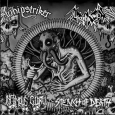 WHIPSTRIKER / NUCLEAR FROST / INFAMOUS GLORY / STENCH OF DEATH - 4-Way Split 7