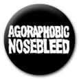 AGORAPHOBIC NOSEBLEED - Logo BUTTON