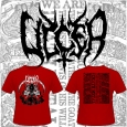 ULCER - Death Metal (RED) T-SHIRT (L)