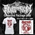 """REVEL IN FLESH - Phlebotomy BUNDLE SPLATTER 7""""EP+T-SHIRT (XL) [PRE-ORDER]"""